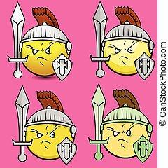 Set of Viking Soldiers Smiley - Set of Viking Soldiers...