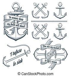 Set of vintage anchors