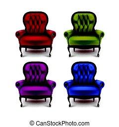 Set of vintage armchairs