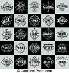 Set of Vintage badges.