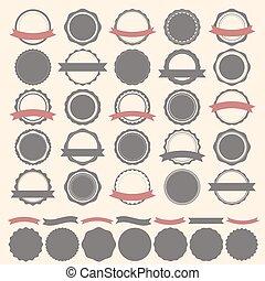 Set of vintage badges, labels and logo template. Vector design e