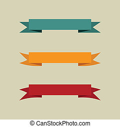 Set of vintage banners. Vector illustration.