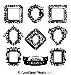 Set of vintage baroque frames