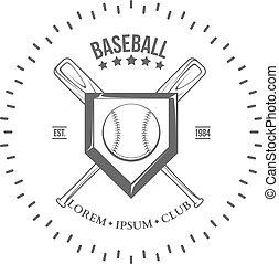 Set of vintage baseball labels and badges. Vector