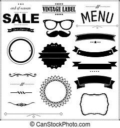 Set Of Vintage Black Badges