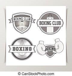 Set of vintage Boxing Labels