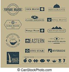 Set of Vintage brands