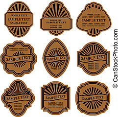 Set of vintage brown labels for design food and beverages