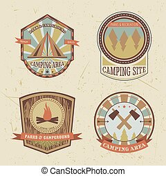 camping and outdoor adventure logo
