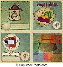 Set of vintage cards for trade