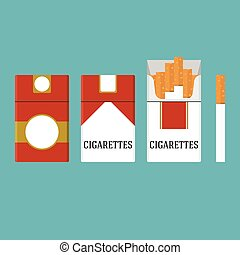 set of vintage cigarettes