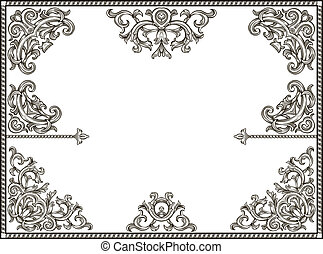 set of vintage corners - collection of vintage black...