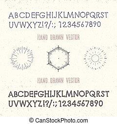 set of vintage design elements
