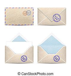 Set of vintage envelopes