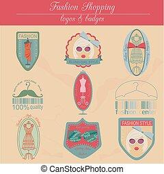 Set of vintage fashion logos