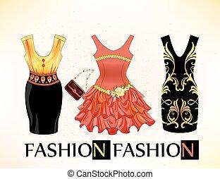 set of  vintage festive dresses for girls
