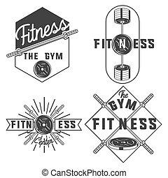 vintage fitness, gym emblems