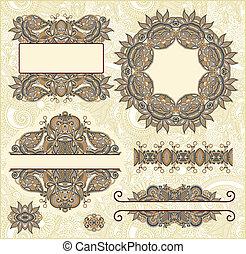 Set of vintage floral frame
