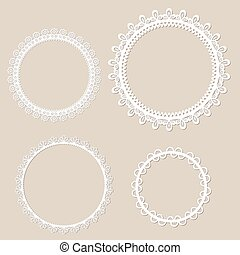 Set of vintage frame design, vector illustration