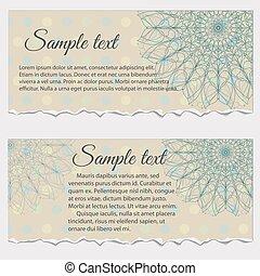 Set of vintage frame templates with flowers, vector illustration