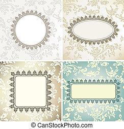 Set of vintage frames for seamless