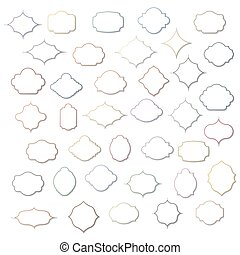 Set of vintage frames, vector