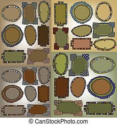 Set of vintage frames. vector illustration