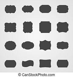 Set of vintage frames, vector illustration
