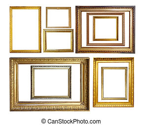 Set of Vintage gold picture borders