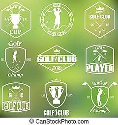 Set of vintage golf labels