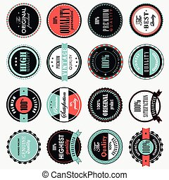 Set Of Vintage Label Premium Vector