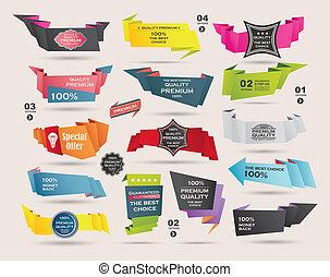 Set Of Vintage labels ribbon