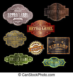 vintage labels - set of vintage labels, vector illustration...