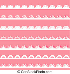 Set of vintage lace borders.
