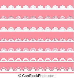 Set of vintage lace borders.