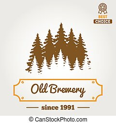 Set of vintage logo, badge, emblem or logotype elements for beer, beer shop, home brew, tavern, bar, cafe and restaurant