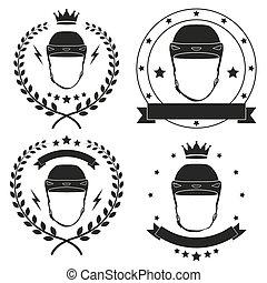 Set of Vintage Motor Club Badge and Label