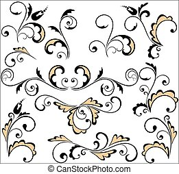 Set of vintage pattern for design