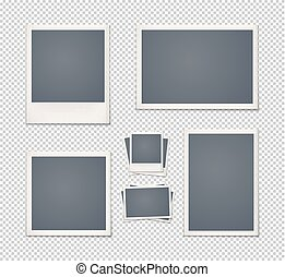 Set of vintage photo frames.