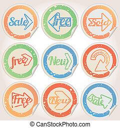Set of vintage retro badges