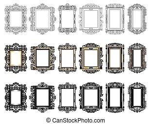 Set of Vintage Retro frames