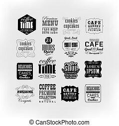 Set Of Vintage Retro - Retro Coffee Labels and typography...