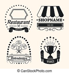 Set of Vintage Retro Labels Design