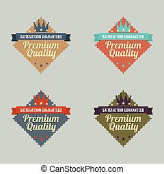 Set of Vintage Retro Labels.