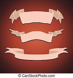 Set of Vintage Ribbons Vector