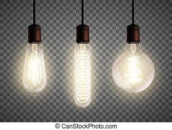Edison light bulb - Set of vintage spiral Edison light bulb ...