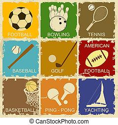 Set of Vintage Sports
