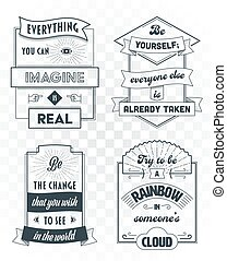 Set of vintage template quotes 01