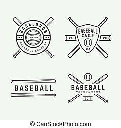 Set of vintage tennis logos, emblems, badges, labels and design elements. Graphic Art. Vector Illustration