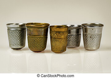Set of vintage thimbles